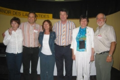 Left to right : Ghislaine l'Abbé, Sylvain Laporte, Diane St-Georges, Baxter Laporte, Madeleine Laporte et Marcel Laporte
